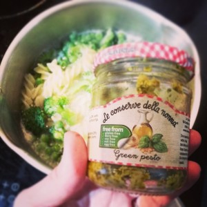 Our favourite brand of vegan pesto is La Conserve della Nonna